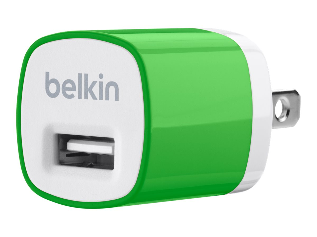 Belkin Mixit Up Home Charger 5 Watt 1 Amp, Green, F8J017TTGRN, 15756290, Battery Chargers