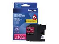 Brother Magenta LC105M Innobella Super High Yield (XXL Series) Ink Cartridge for MFC-J4510DW, LC105M, 14714830, Ink Cartridges & Ink Refill Kits