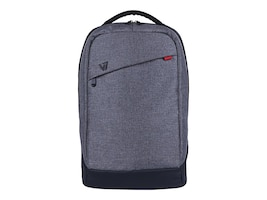 V7 Laptop Backpack 16 15.6 15.4 Trendy Splash-Proof Material, CBK1-GRY-3N, 30947887, Carrying Cases - Notebook