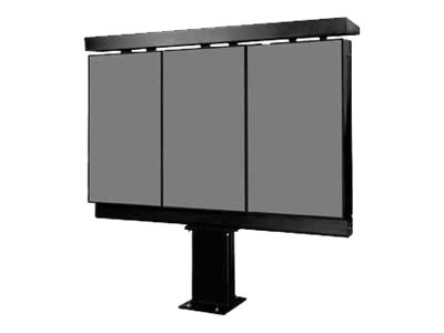 Peerless Xtreme Outdoor Triple Digital Menu Board Kiosk with 47 Optically Bonded LCD Displays, KOP547-XTR-3