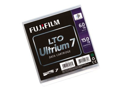 Fujifilm 6TB 15TB LTO-7 Ultrium Data Cartridge w  Case, 16456574