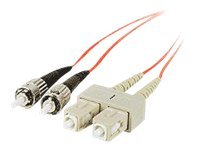 Siig Fiber Patch Cable, SC-ST, 62.5 125, Duplex, Multimode, Aqua, TAA, 2m