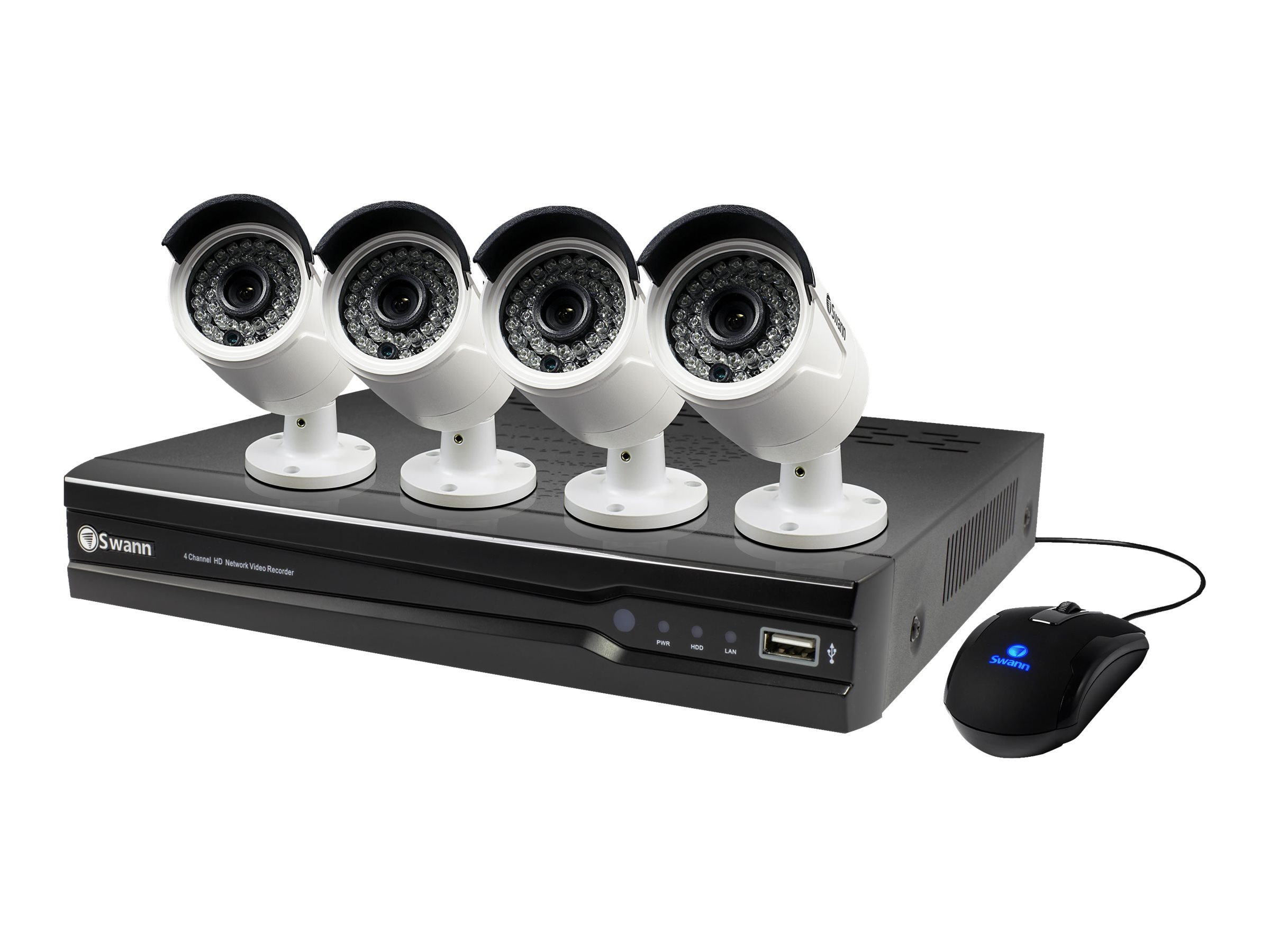 Swann 8-Channel NVR with 4x 3MP Camera, 2TB HDD, SWNVK-873004-US, 30948847, Video Capture Hardware