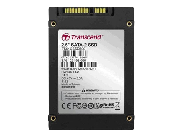 Transcend 8GB SATA 500 4J 2.5 Internal Solid State Drive, TS8GSSD500, 16229029, Solid State Drives - Internal