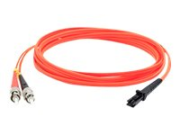 ACP-EP MT-RJ to ST 62.5 125 OM1 Multimode LSZH Duplex Fiber Cable, Orange, 3m
