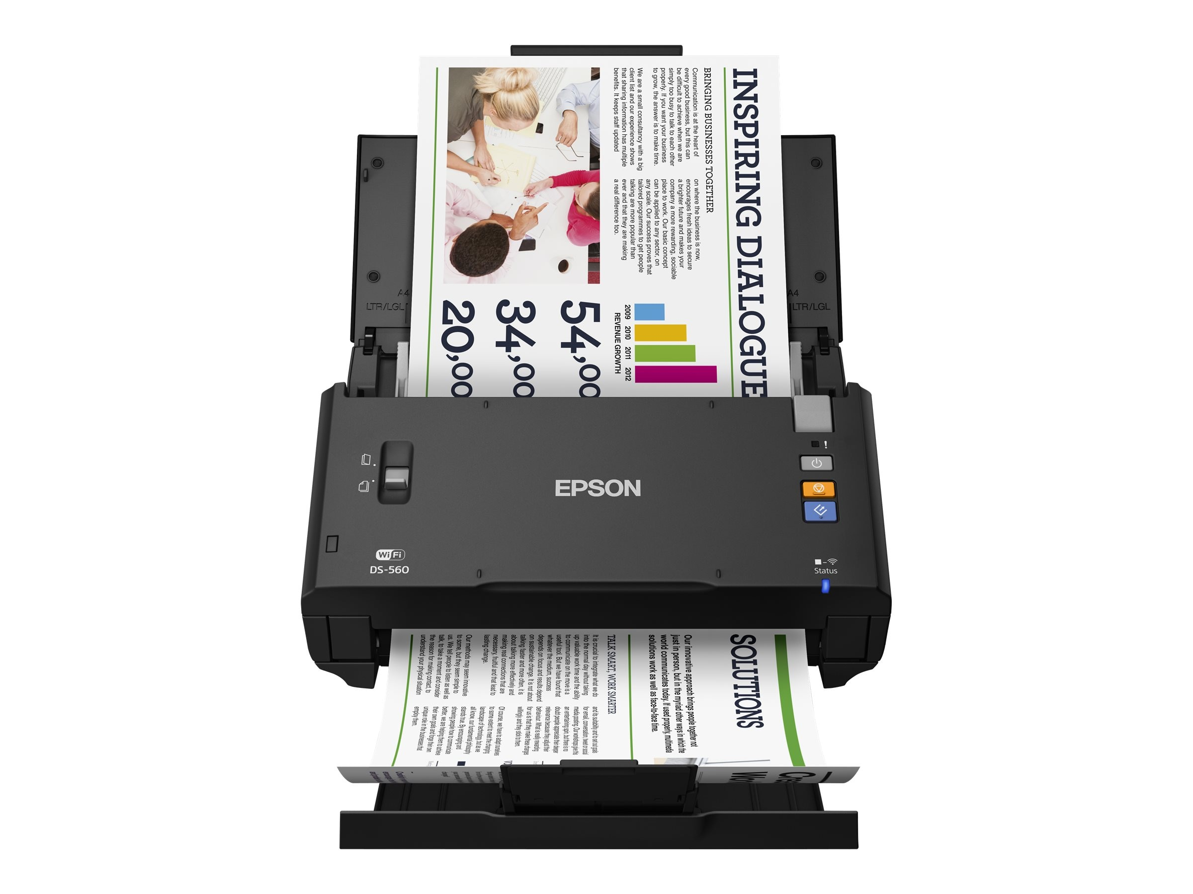 Epson WorkForce DS-560 26ppm 50-page ADF Wireless Scanner, B11B221201