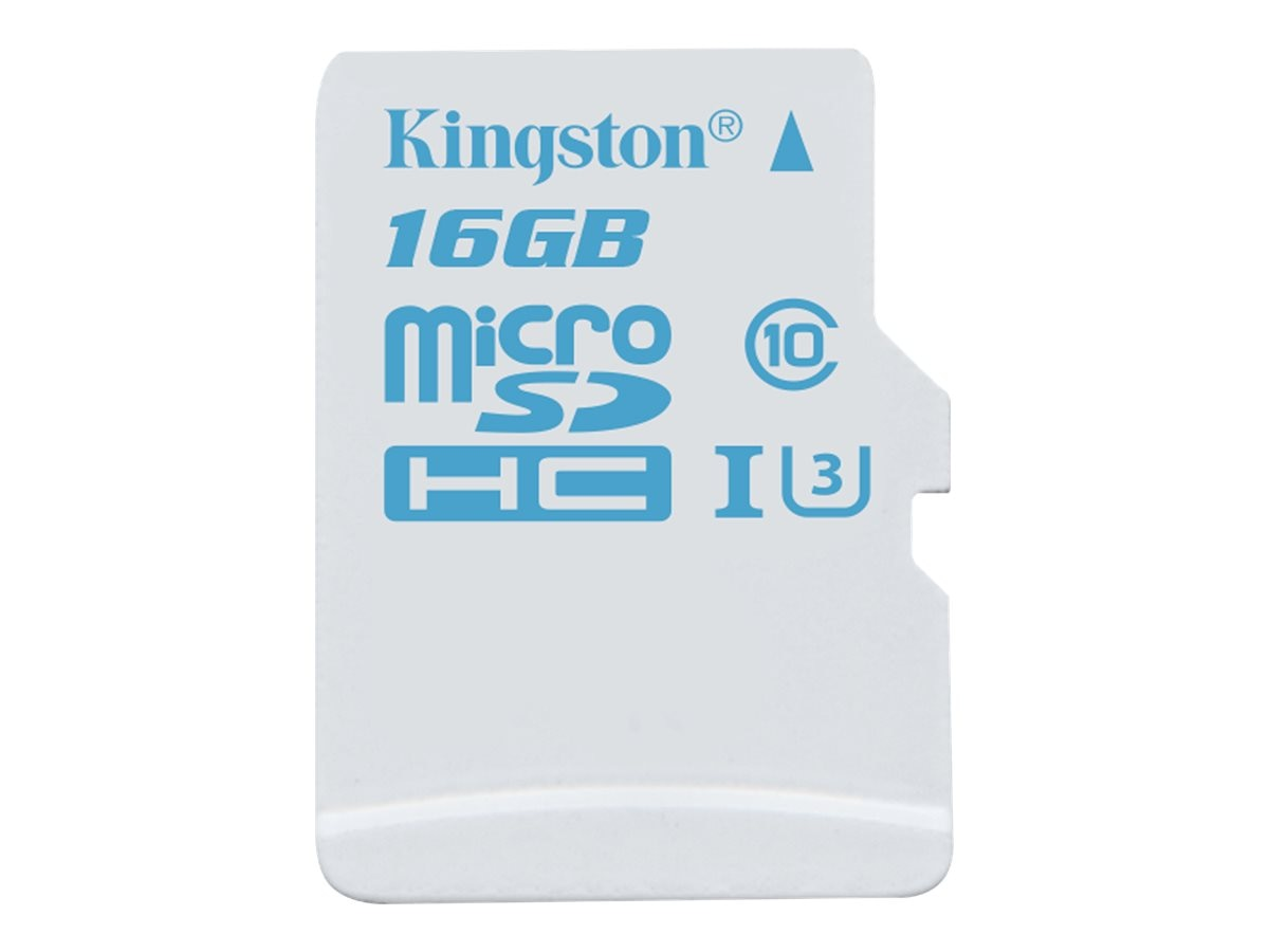 Kingston 16GB microSDHC UHS-I U3 Flash Memory Card, Class 10