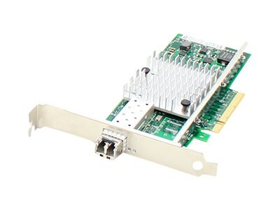 Add On 10Gbs Single Open SFP+ Port PCIe x8 NIC with Transceiver Intel E10G41BFLR