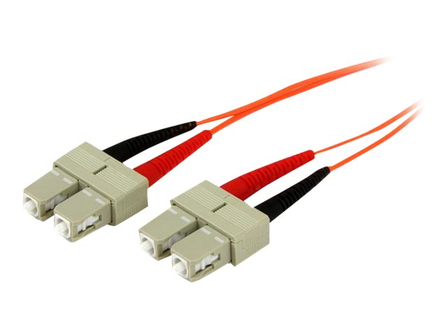 StarTech.com OFNP Plenum Multimode 50 125 Duplex Fiber Patch Cable SC - SC, 2m