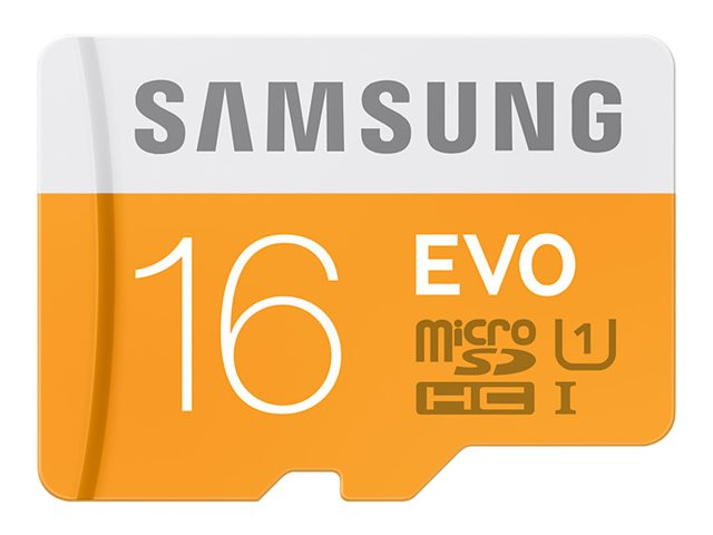 Samsung 16GB EVO Micro SDHC Flash Memory Card with USB 2.0 Reader, MB-MP16DC/AM, 30895888, Memory - Flash