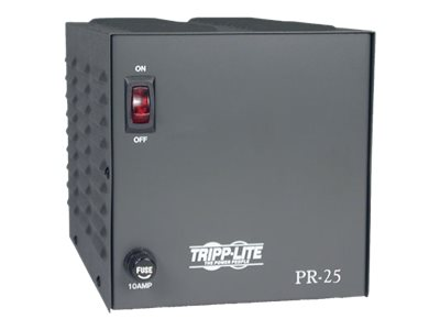 Tripp Lite 25-Amp DC Power Supply 120VAC Input to 13.8VDC Output, PR25, 5447119, AC Power Adapters (external)