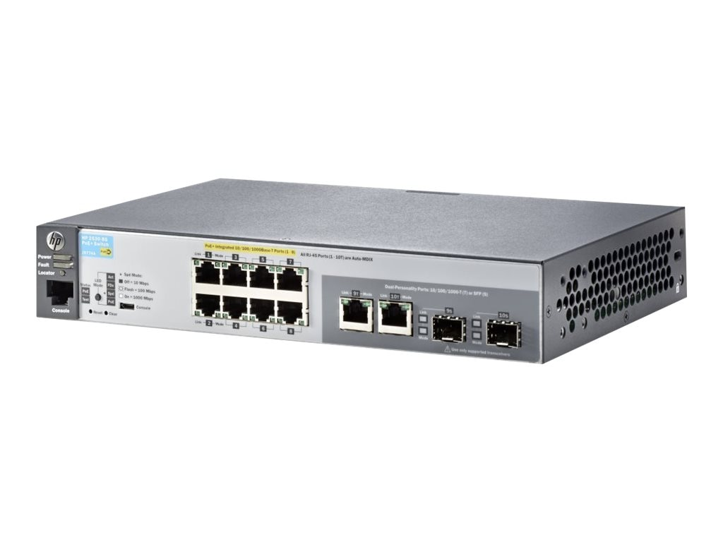 HPE 2530-8G-POE+ Switch, J9774A#ABA, 15779951, Network Switches