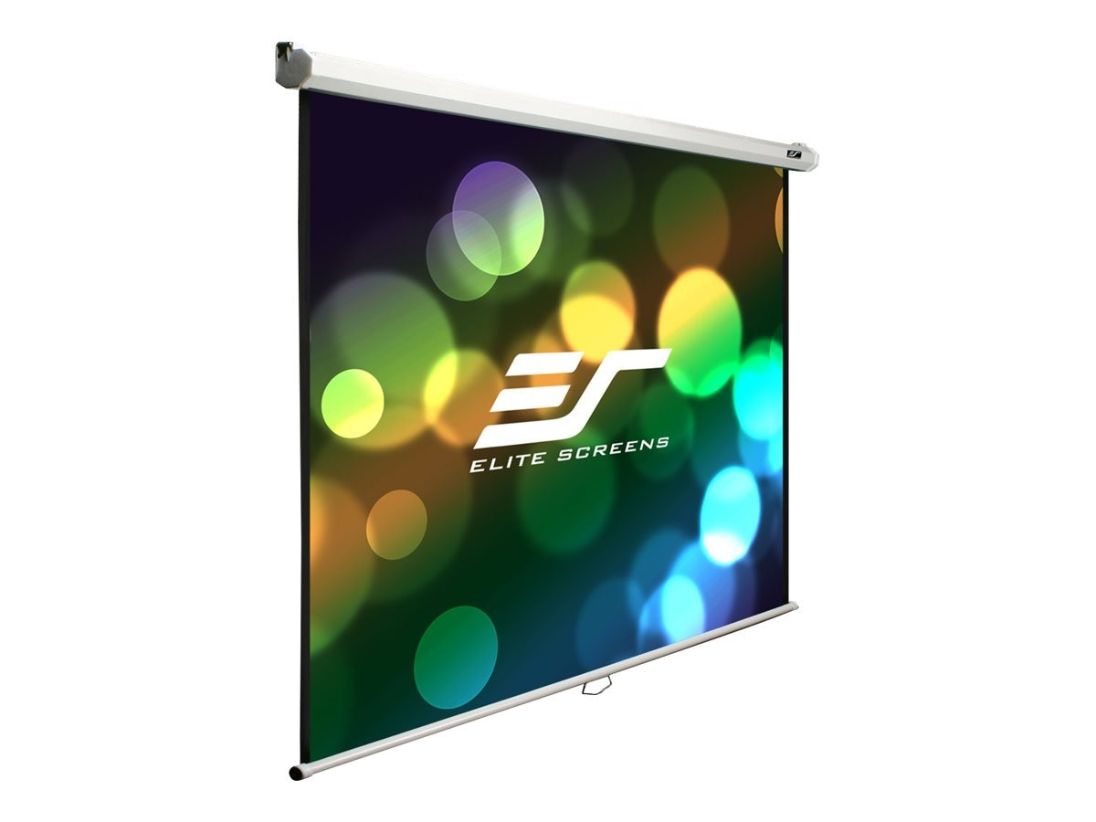 Elite Manual B Series Projection Screen, MaxWhite, 4:3, 100