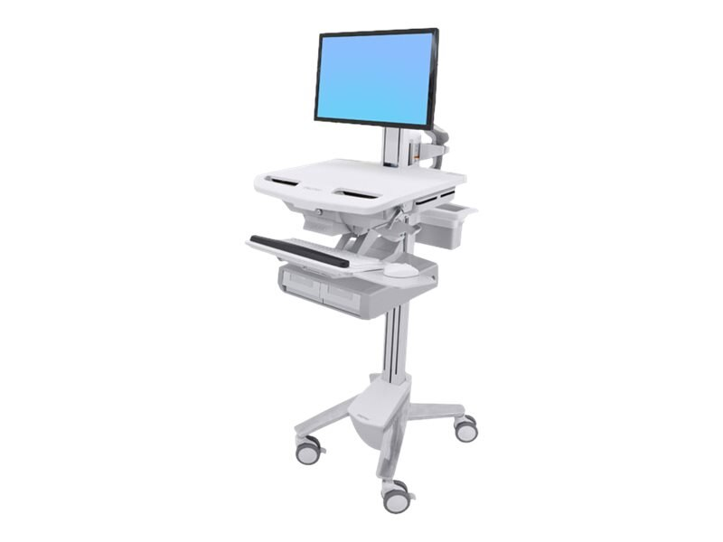 Ergotron StyleView Cart with LCD Pivot, 2 Drawers, SV43-13A0-0, 31498201, Computer Carts - Medical