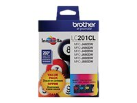 Brother LC201CL Innobella Standard Yield Color Ink Cartridges (Cyan, Magenta & Yellow)