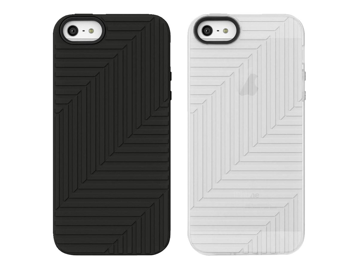 Belkin Flex Case, Blacktop Clear for iPhone 5 (2-pack), F8W130TTC00-2, 14860781, Carrying Cases - Phones/PDAs