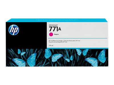 HP 771A 775-ml Magenta Designjet Ink Cartridge, B6Y17A, 15709178, Ink Cartridges & Ink Refill Kits