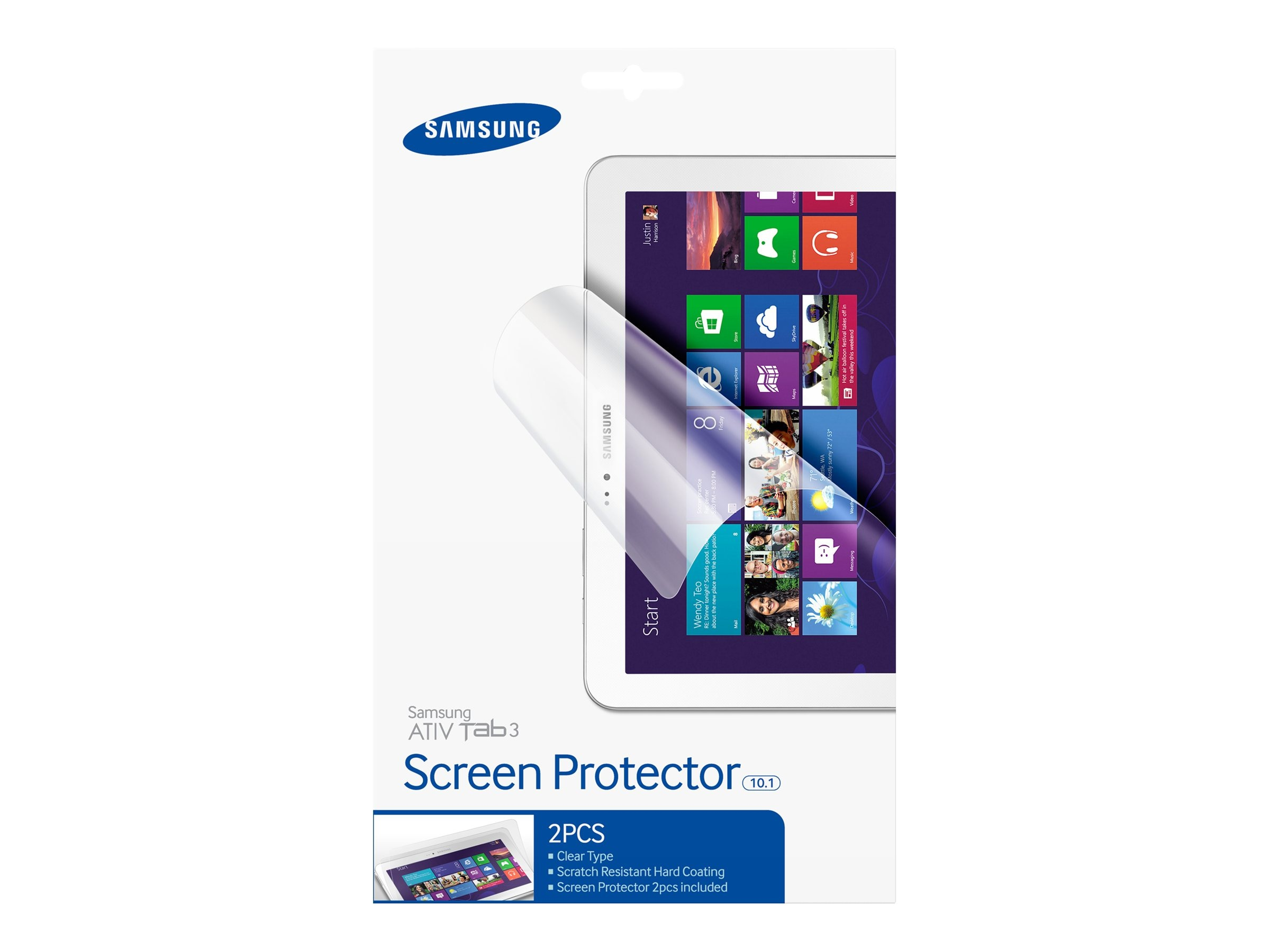 Samsung Screen Protector for ATIV Tab 3 10.1, Clear (2-pack), AA-SP2NW10/US
