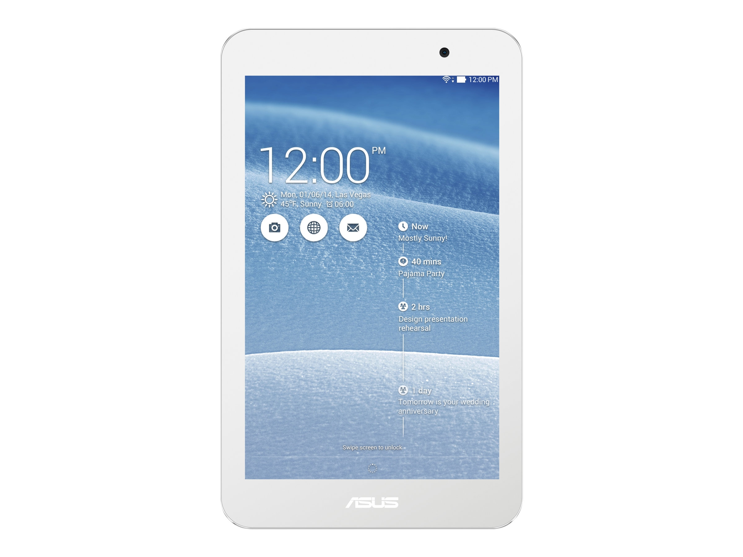 Asus MeMO Pad ME176CX 1GB 8GB 7 Touch White, ME176CX-8G-WH, 17083383, Tablets
