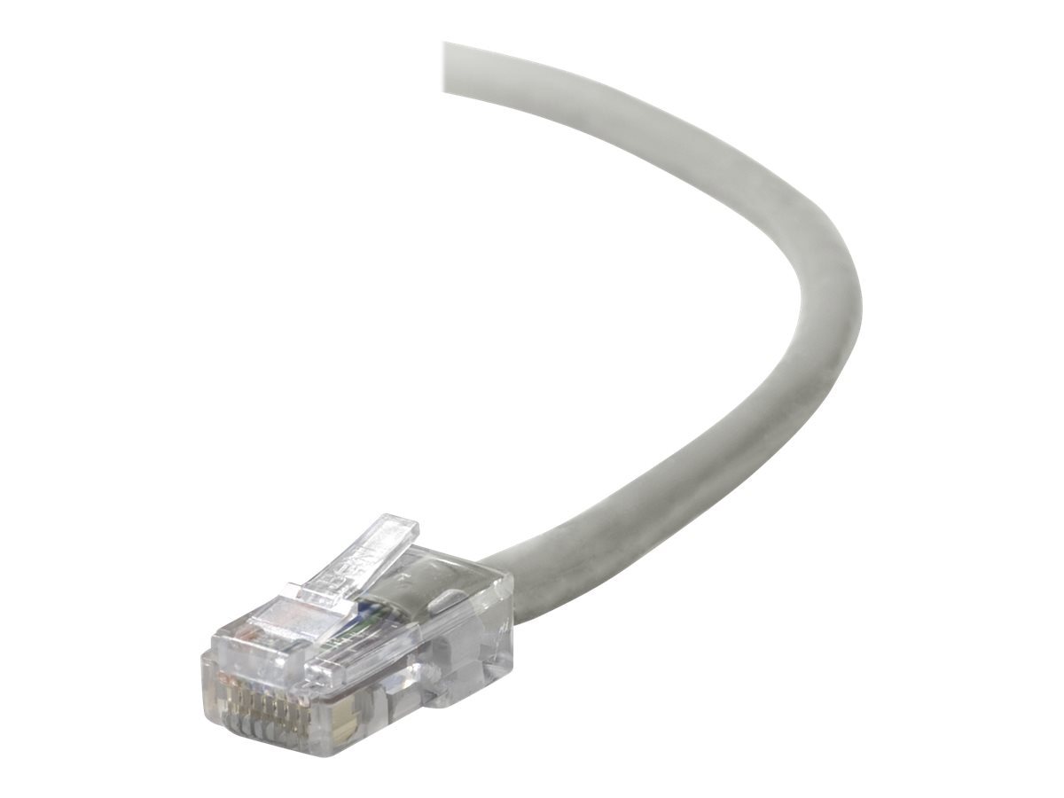 Belkin Cat5e Non-Booted UTP Patch Cable, Gray, 100ft, A3L791-100, 129208, Cables
