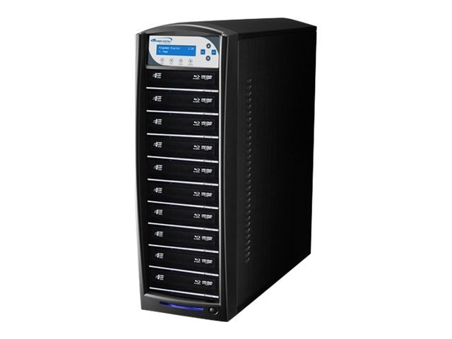 Vinpower SharkBlu Blu-ray DVD CD USB 3.0 1:10 Duplicator w  Hard Drive, SHARKBLU-S10T-BK, 15128891, Disc Duplicators