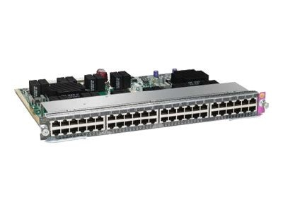 Cisco Line Card E-Series (48) 10 100 1000 PoE, WS-X4748-RJ45V+E=, 11929077, Network Device Modules & Accessories