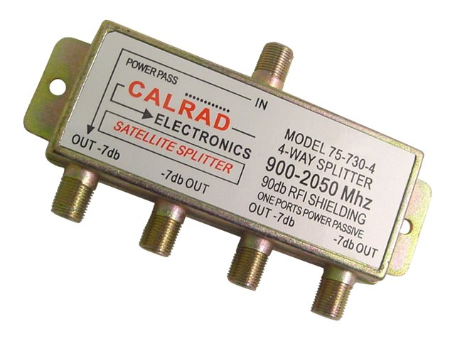 Calrad 4-Way 2GHz Satellite Splitter, 75-730-4