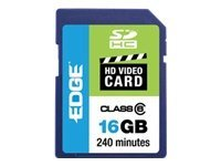 Edge 16GB SDHC HD Video Card, Class 6, PE222604, 10041228, Memory - Flash