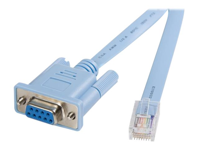 StarTech.com RJ45 to DB9 M F Cisco Console Management Router Cable, Blue, 6ft, DB9CONCABL6