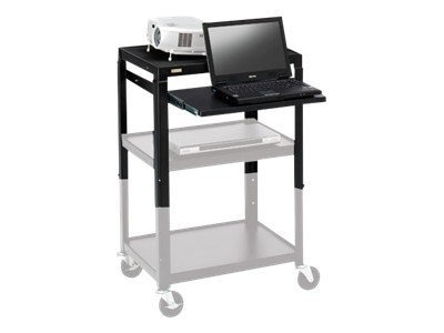 Bretford Manufacturing Adjustable AV Cart Retrofit Kit, Black, 2642NSKIT-BK, 9098711, Stands & Mounts - AV