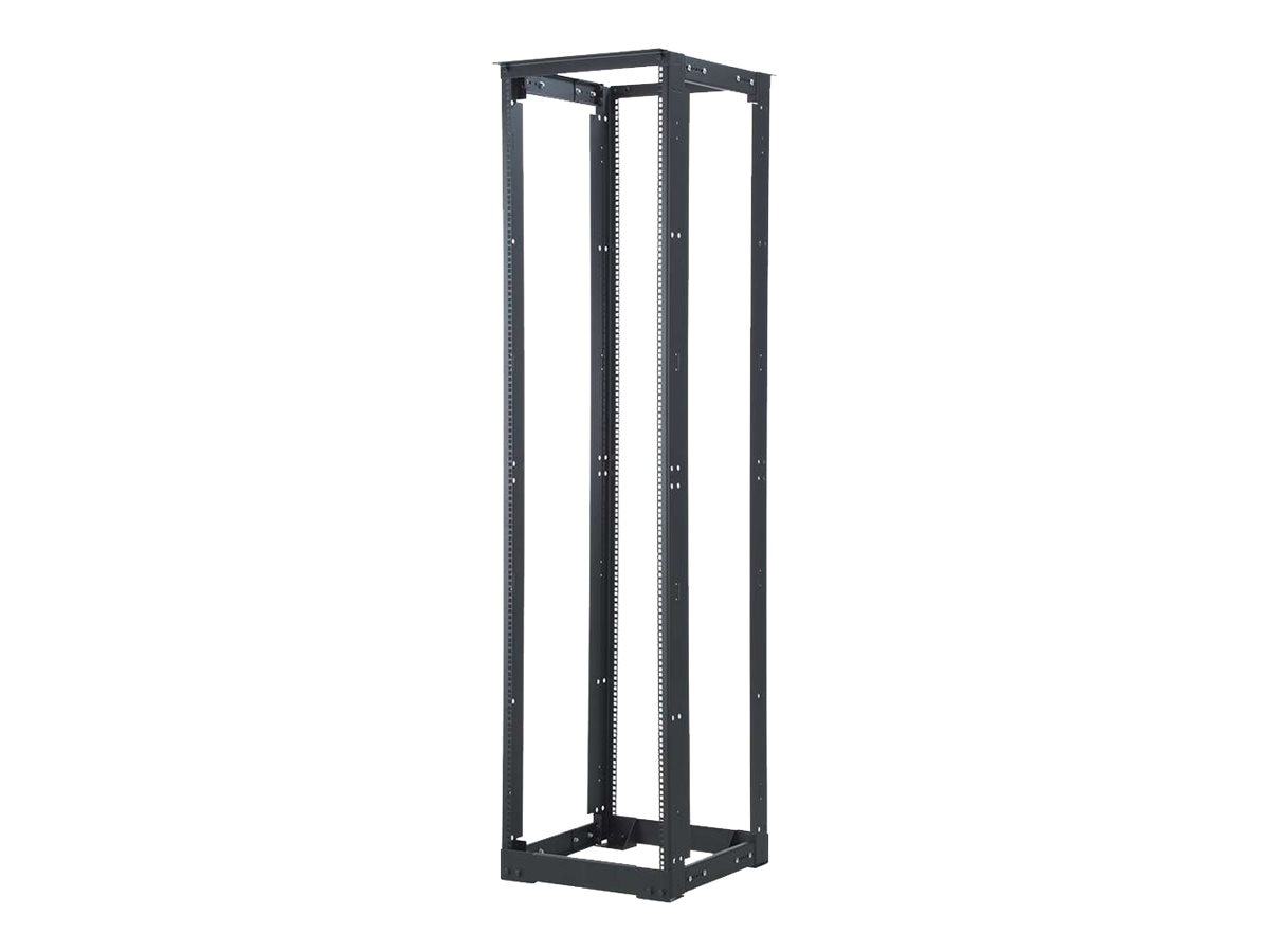 C2G 4-Post 45U Adjustable Open Frame Rack w  M6 Rails, 21-32d