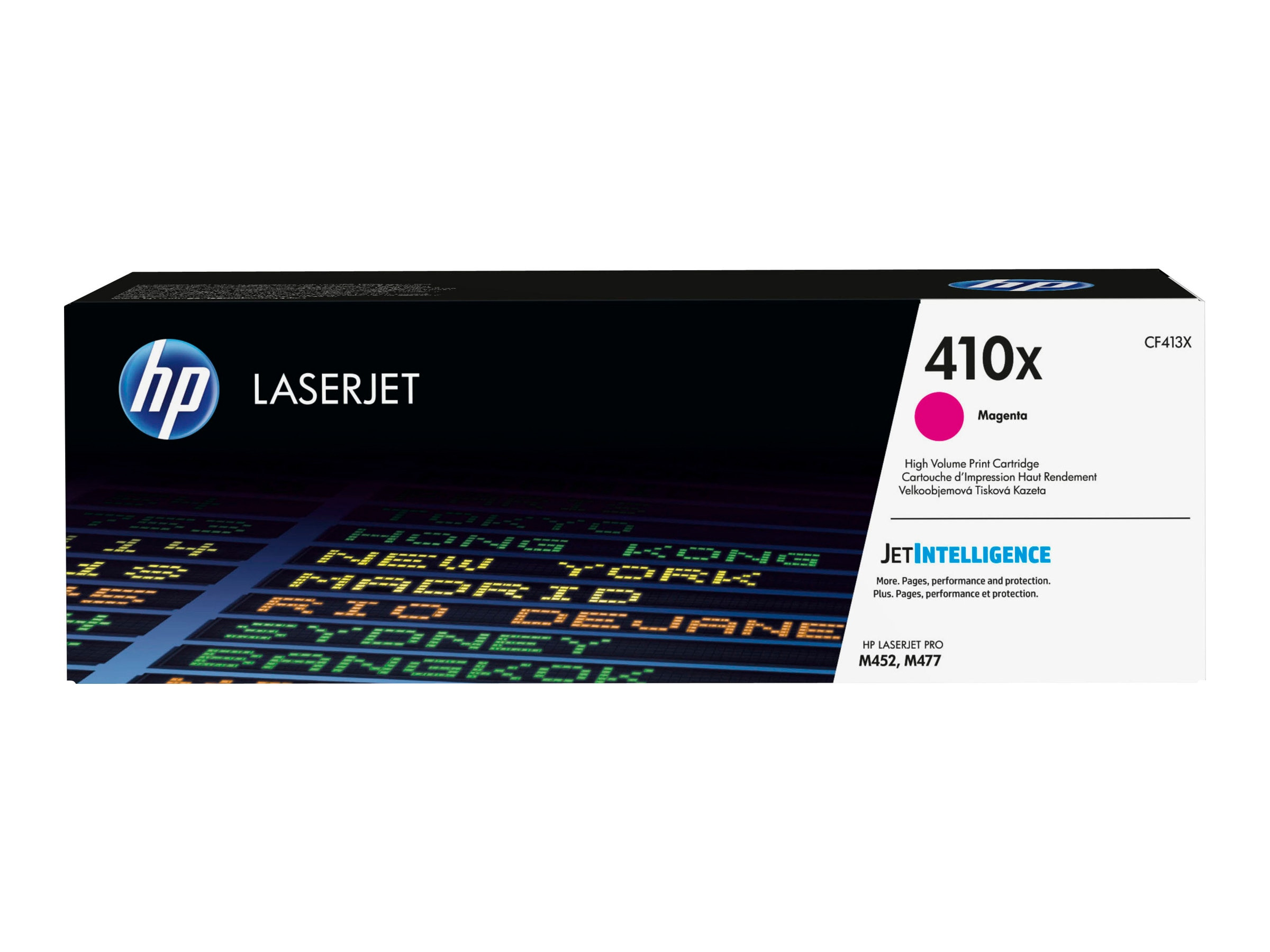 HP 410X (CF413X) High Yield Magenta Original LaserJet Cartridge w  JetIntelligence for HP Pro M452
