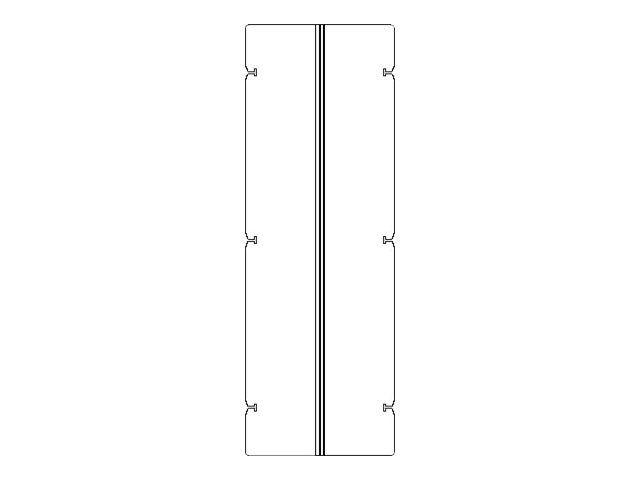 Liebert Cable Backplane 600 to 800 2 Kit, Kit of 2, 546545P1, 13323950, Rack Mount Accessories