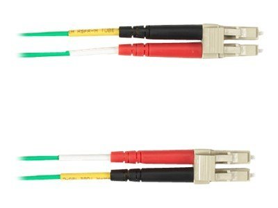 Black Box Fiber Optic Cable, 62.5 125, LC-LC, Multimode, Plenum, Green, 30m
