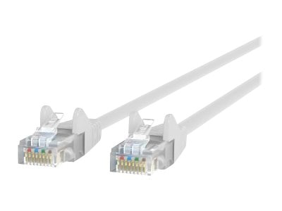 Belkin Cat5e Patch Cable, White, 7ft, Snagless