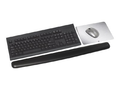3M Antimicrobial Gel Wrist Rest, Extra Long, Leatherette, Black, WR340LE