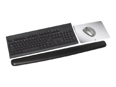 3M Antimicrobial Gel Wrist Rest, Extra Long, Leatherette, Black
