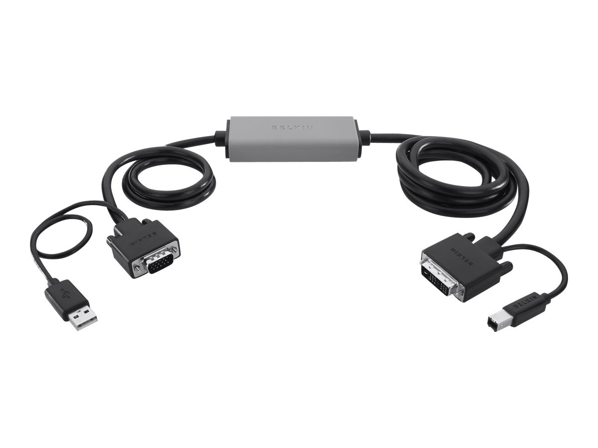 Belkin VGA to DVI SMART Cable, 6ft, F1D9009B06, 30720560, Cables