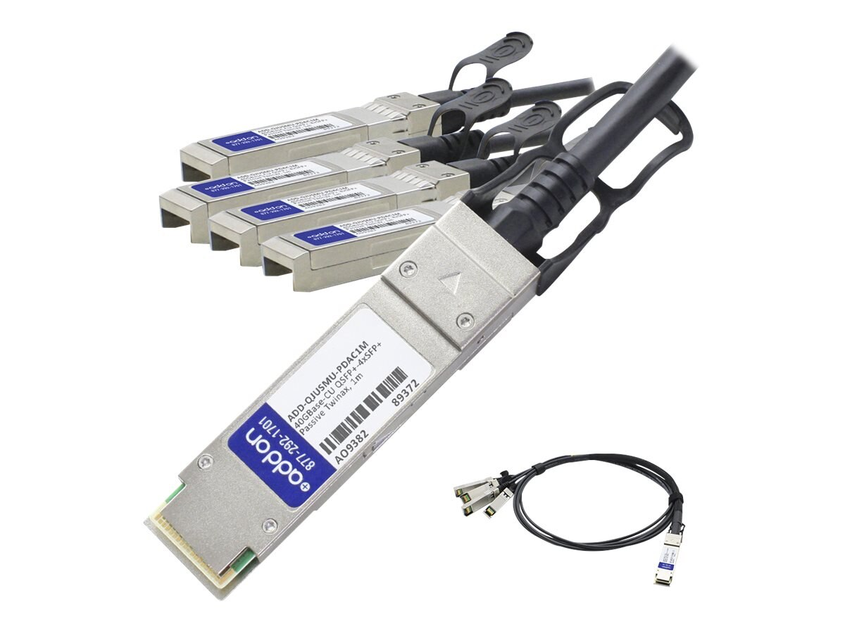 ACP-EP 40GBase-CU QSFP+ to 4xSFP+ Passive Twinax Direct Attach Cable, 1m