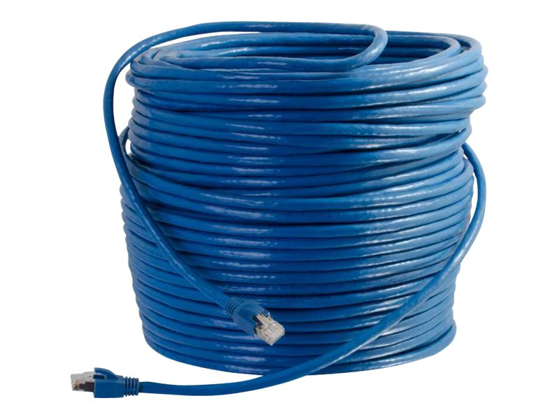 C2G Cat6 Snagless Solid Shielded Network Patch Cable, Blue, 75ft