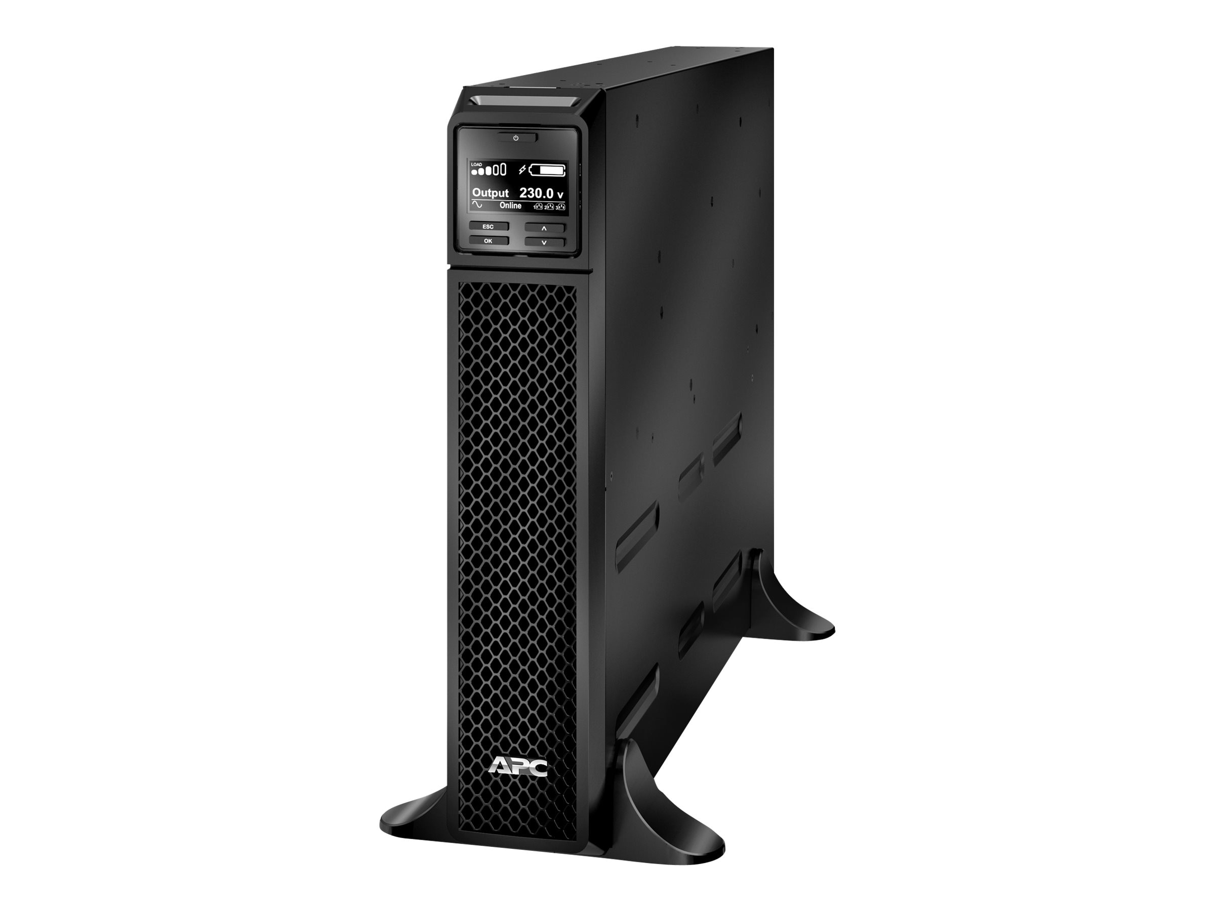 APC Smart-UPS Int'l On-Line 3000VA 2700W 208V 230V C13 C19 I O Serial SmartSlot USB, Extended R T, SRT3000XLW-IEC, 30946163, Battery Backup/UPS