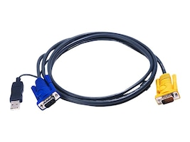 Aten PS 2 to USB Intelligent KVM Cable, 19ft, 2L5206UP, 7556010, Cables
