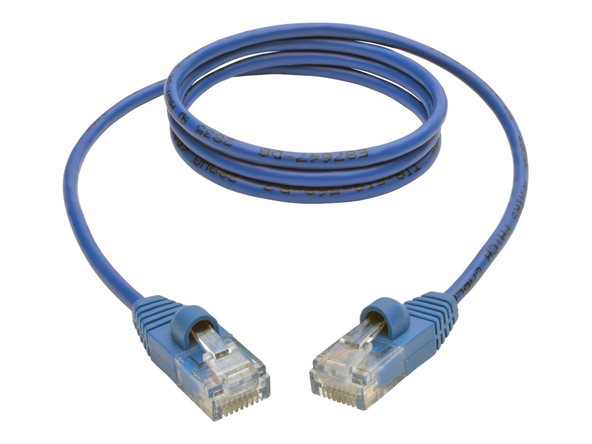 Tripp Lite Cat5e 350MHz Snagless Molded Slim UTP Patch Cable, Blue, 3ft, N001-S03-BL