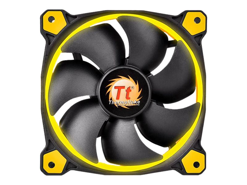 Thermaltake Riing 14 Series Yellow LED Fan, CL-F039-PL14YL-A, 30708106, Cooling Systems/Fans