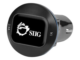 Siig 3.4A 2-Port USB Car Charger w  Back-lit Power Status LED, AC-PW0W12-S1, 30814953, Battery Chargers