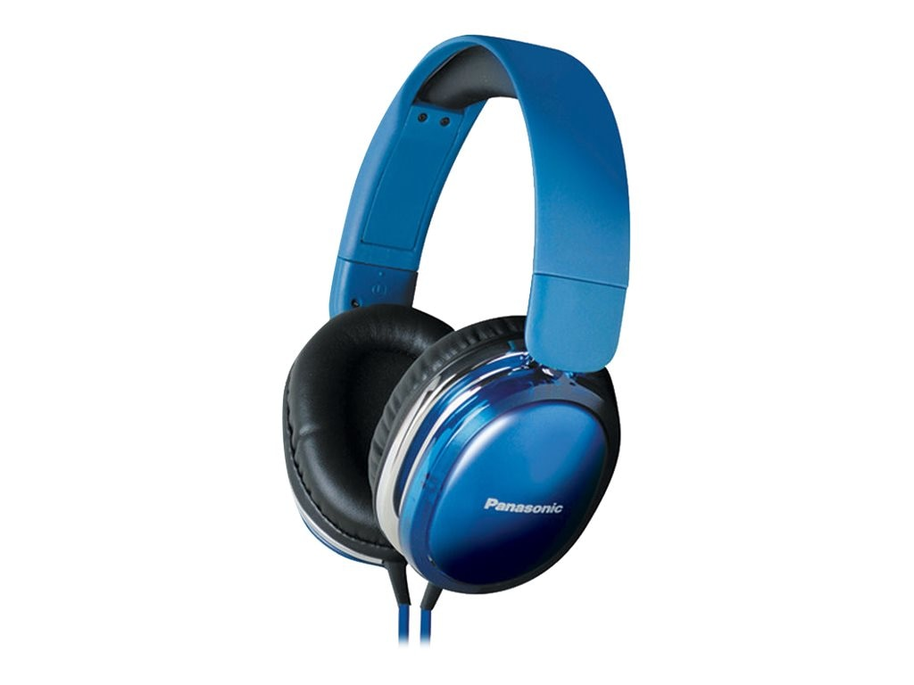 Panasonic StreetBand Monitor Headset w  Remote & Mic for Apple - Blue, RP-HX450C-A, 21016837, Headsets (w/ microphone)