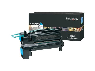 Open Box Lexmark Cyan Extra High Yield Toner Cartridge for C792 Series Printers, C792X2CG, 30829637, Toner and Imaging Components
