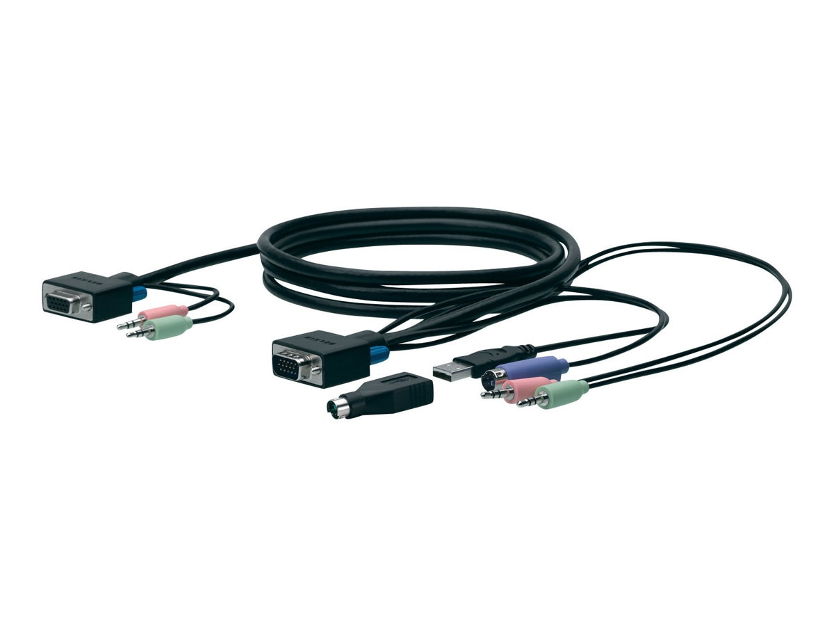 Belkin SOHO PS 2 and USB-with Audio KVM Cable Kit, 6ft, F1D9102-06