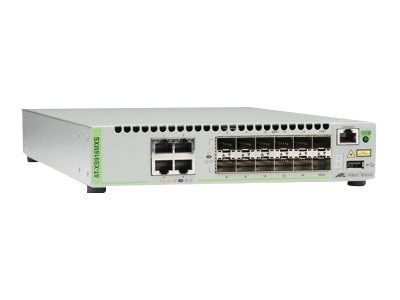 Allied Telesis 12-Slot SFP SFP+ Stackable Switch w 4x10Gb RJ45, US Power Cord