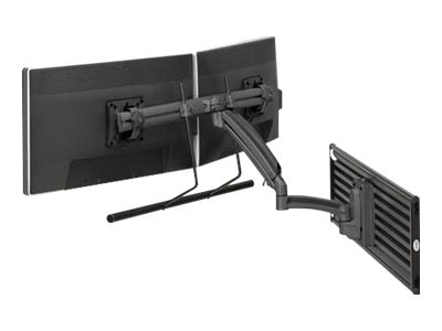 Chief Manufacturing Kontour K1S Dynamic Slatwall Mount, Dual Monitor Array - Black (TAA Compliant)
